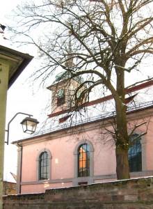 Franzosenkirche Schwabach im Winter