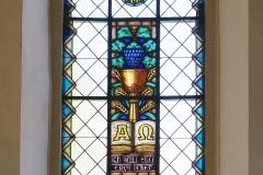 Glasfenster an der Nordwand