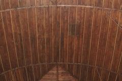 Hölzernes Tonnengewölbe