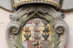 Markgräfliches Wappen mit dem Fürstenhut